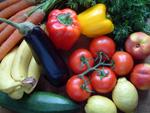 Verschiedenes Gemüse und Obst