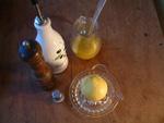 Zitronensaftdressing plus Zutaten