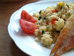Couscous (Kuskus) mit Seelachsfilet