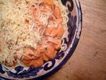 Lecker lecker Spaghetti mit Würstchensoße