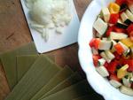 Ein Teil der Zutaten für die Gemüselasagne