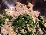 Weißbrot ohne Ränder, Petersilie und 250 g Butter