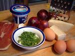 Zutaten für die Schinken-Spinat-Tarte