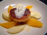 Quarktaler mit Orangen-Apfel-Sonne