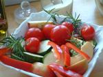 Paprika, Zucchini und Kirschtomaten