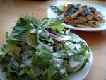 Joghurtdressing für Blattsalat
