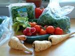 Bestellung von regionalen Bioprodukten