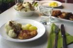 Hähnchenschnitzel mit Blumenkohl und Kartoffeln